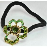 Р1165-1 Резинка с зелеными камнями