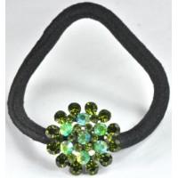 Р1165-2 Резинка с зелеными камнями