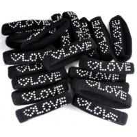 Р153-1/20 Резинка Love черные