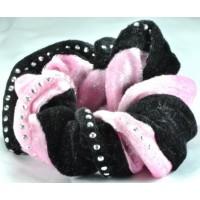 Р1625-7 Резинка черно-розовая