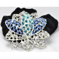 Р2260-1 Резинка велюровая с голубыми камнями