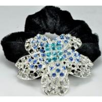 Р2260-3 Резинка велюровая с голубыми камнями