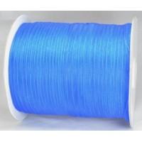Ш06-1 Лента органза 7мм синяя 450м