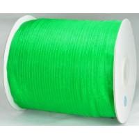 Ш06-3 Лента органза 7мм зеленая 450м