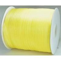 Ш06-4 Лента органза 7мм желтая 450м