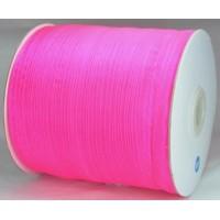 Ш06-6 Лента органза 7мм ультра-розовая 450м