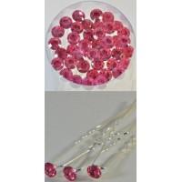 Ш092-5/40 Шпильки розовые, длина 6,5см, d=0,7см
