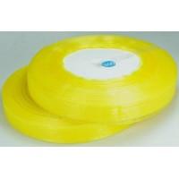 Ш12-5 Лента органза 1,2см желтая