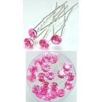 Ш240-10/20 Шпильки розовая длина 6,5см, d=0.8см