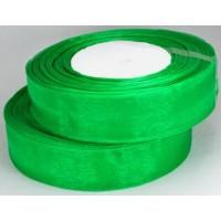 Ш25-1 Лента органза 2,5см зеленая 45м