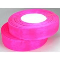 Ш25-3 Лента органза 2,5см ультра-розовый 45м