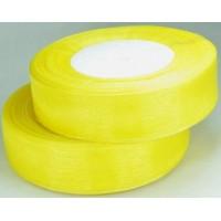 Ш25-5 Лента органза 2,5см желтая 45м