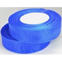 Ш25-6 Лента органза 2,5см синяя 45м