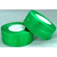 Ш38-7 Лента органза 3,8см зеленая