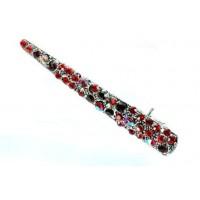 У2245-1 Утка с красными камнями длина 9см