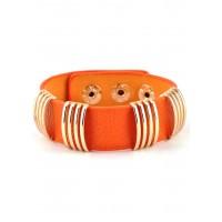 СБ1820-5 Браслет оранжевый, длина 22,5см