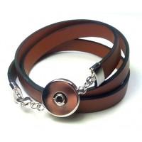 СБ4550-3 Браслет Noosa тройая намотка коричневый