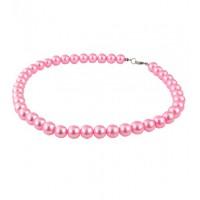СП 970-4 Бусы жемчуг св,-розовый, Ф бусины 1см, длина вдвое 22см