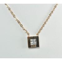 СП10350-10 Подвеска  длина цепочки вдвое 20.5см цвет золото