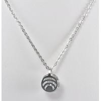 СП7950-1 Подвеска  длина цепочки вдвое 21,5см цвет серебро