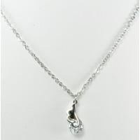 СП7950-13 Подвеска  длина цепочки вдвое 22см цвет серебро