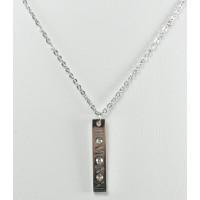 СП7950-7 Подвеска  длина цепочки вдвое 20см цвет серебро