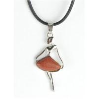 СП 5065-9 Подвески с натуральным камнем коричневый авантюрин