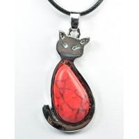 СП 5660-4 Подвески с натуральным камнем красная яшма