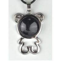 СП 5670-4 Подвески с натуральным камнем авантюрин черный