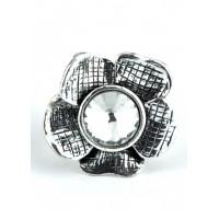 КО1260-1 Кольцо с цветком стрейчевое