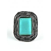 КО1460-31 кольцо с бирюзой безразмерное