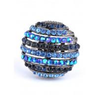 КО1566-4 Кольцо безразмерное с синими камнями