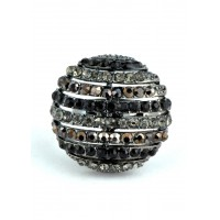 КО1566-5 Кольцо безразмерное с серыми камнями