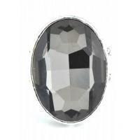 КО1665-3 Кольцо стрейчевое с темно дымчатое 3х2см