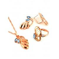 СП 3790-1 Набор длина цепочки вдвое 23см, кольцо безразмерное, серьги с англ. застежкой