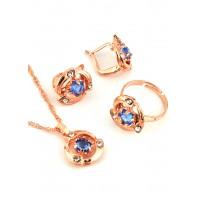 СП 3955-2 Набор длина цепочки вдвое 23см, кольцо безразмерное, серьги с англ. застежкой