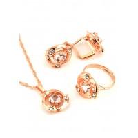 СП 3955-3 Набор длина цепочки вдвое 23см, кольцо безразмерное, серьги с англ. застежкой