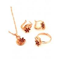 СП 3956-2 Набор длина цепочки вдвое 23см, кольцо безразмерное, серьги с англ. застежкой