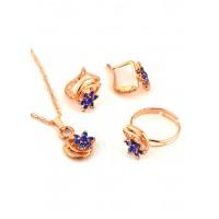 СП 3956-3 Набор длина цепочки вдвое 23см, кольцо безразмерное, серьги с англ. застежкой