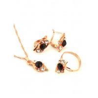 СП 3957-1 Набор длина цепочки вдвое 23см, кольцо безразмерное, серьги с англ. застежкой