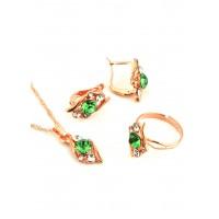 СП 3957-2 Набор длина цепочки вдвое 23см, кольцо безразмерное, серьги с англ. застежкой