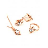 СП 3957-3 Набор длина цепочки вдвое 23см, кольцо безразмерное, серьги с англ. застежкой