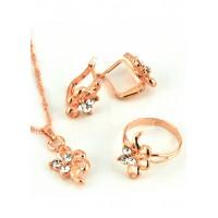СП 4335-1 Набор длина цепочки вдвое 23см, кольцо безразмерное, серьги с англ. застежкой