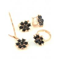 СП 4850-4 Набор длина цепочки вдвое 23см, кольцо безразмерное, серьги с англ. застежкой