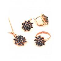 СП 5166-1 Набор длина цепочки вдвое 23см, кольцо безразмерное, серьги с англ. застежкой