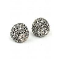СГ2200-3 Серьги Ф2см с серым камнем