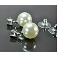 СГ3320-2 Серьги жемчуг гвоздики