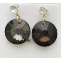 Серьги СГ700-22 черные