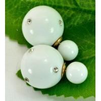 Серьги Dior СГ810-3 белые
