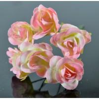ЦВ250-1/6 Цветочек 6шт Ф3см розовый